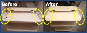 浴室化粧台の割れ